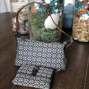 Little Coach purse & matching wallet